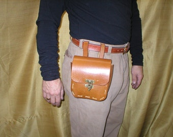 handmade rugged LEATHER tool BELT POUCH possible bag