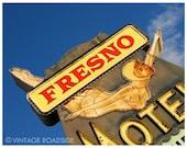 Dive In - 1950s California Diving Girl Neon Sign (Fresno, California) - Fine Art Photograph. Neon Sign Road Trip Decor