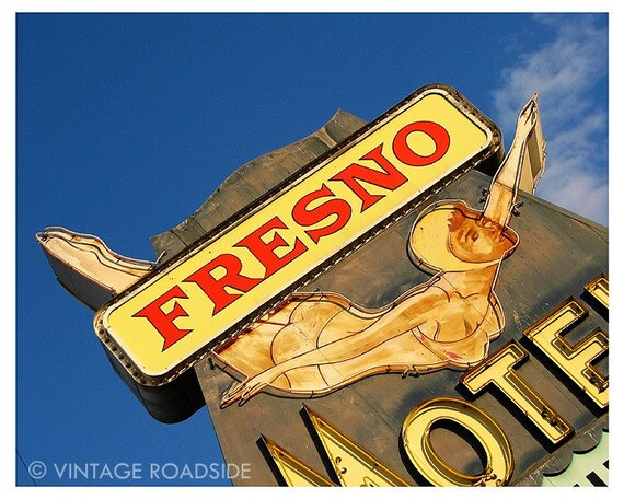 Dive In - 1950s California Diving Girl Neon Sign (Fresno, California) - 8x10 Matted Fine Art Photograph