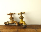 Reerved - Two Vintage Brass Faucet Heads