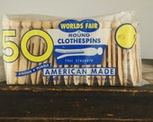Vintage American Made Clothespins
