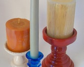 Candle holder set: Festive colors for independence
