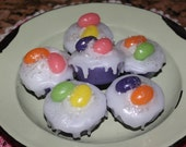 FRUIT LOOPS or You Choose Scented Primitive Grubby Easter Iced Cupcake Wax Tarts Melts Fillers Decor - FRUITY