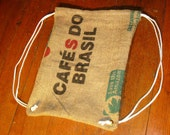 Upcycled Burlap Sack Pack- Made with Recycled Burlap Coffee Sacks