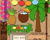 Luau Party Clip Art - Digital Scrapbooking