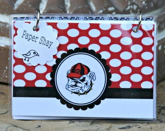 Index Card Binder 4 x 6, Index Card Holder, Personalized Flashcard Holder, Recipe Book, Laminated Note Card Binder, Blank Journal, GEORGIA