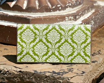 Checkbook Cover, Monogrammed Checkbook Cover, Personalized Checkbook Cover, Custom Checkbook Cover, Vinyl Checkbook Cover DAMASK