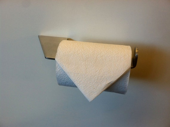 The Holy Roller - minimalist stainless steel toilet paper holder