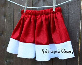 Christmas skirt / Santa baby, toddler, girls boutique skirt Limited Holiday Edition SIZE 12mo - 5T