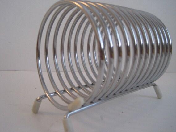 Wire Desk Organizer  Industrial   Mid Century Modern Chrome