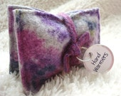 Pocket Hand Warmers Wool LAVENDER FLORAL Eco-friendly Portable Heat by WormeWoole on Etsy