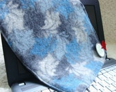 Netbook Sleeve iPad Cover BLUE GRAY FLORAL Cashmere Gadget Sweater