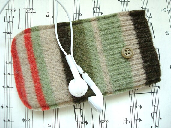 Phone Case iPhone iPod EARTHY STRIPES Gadget Sweater WormeWoole