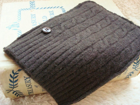 Nook Simple Touch Cover Gadget Sweater CHOCOLATE BROWN Case Sleeve