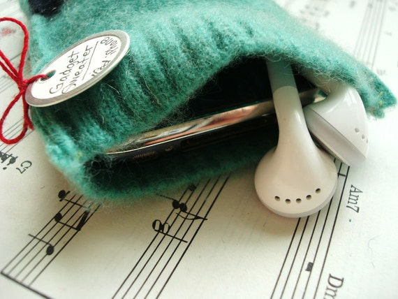 iPhone Cover iPod Case ULTRAMARINE GREEN Cashmere Gadget Sweater iPhone 4