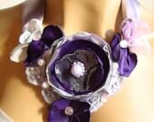 Flower Bib Neclklace/ Bridal Fescinator/ Head piece/ Bridesmaid/ Party/ Ball/ Dancing/ Ceremony/