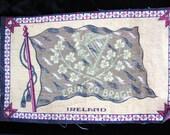 Antique Cigar Box Flag of Ireland 1900s