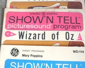 Wizzard of Oz Peter Pan and Mary Poppins Show N Tell Picturesound Programs 1964
