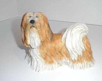 An Original Castagna Hand Painted Dog Statue