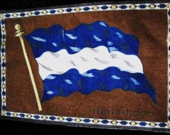 Antique Cigar Box Flag of Nicaragua 1900s