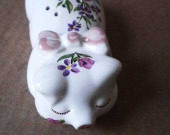 Ceramic Pig Potpourri Holder By Avon Circa 1978