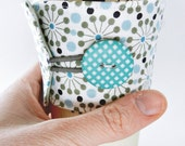 Reusable Coffee and Tea Sleeve / Cozy : Ferris Wheels