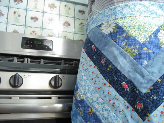 Half Apron for Mother's Day - Blue Skies - Reversible