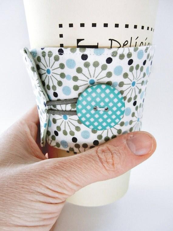 Reusable Coffee and Tea Sleeve / Cozy : Ferris Wheels