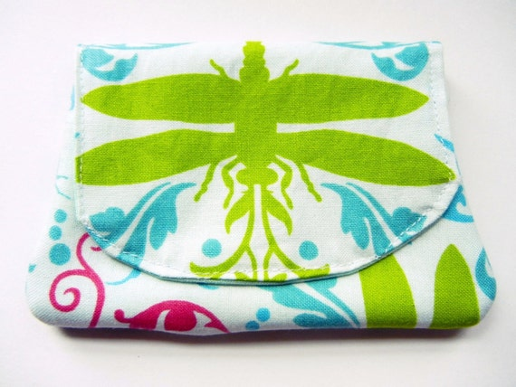 Card Wallet / IPod Case / ID Holder - Dragonfly