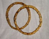 Round Bamboo Handles for Purse Crafting from Carlas Vintage Finds