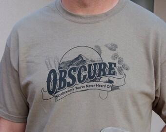 Craft Beer Shirt, Beer Snob, Beer Geek, Obscure Microbrewery, Homebrewer, Beer Gift, Oktoberfest Beer Fest Birthday Gift Christmas Gift
