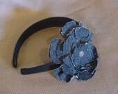 Jean Flowered Headband