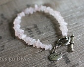 "Pink Stone ""Love"" Charm Bracelet"