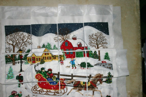 Quilting Squares Anita Goodesign  Project Ready Beautiful Embroidered Scenic Panels 12 In all Would make a great wall hanging