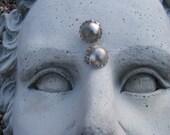 Vintage Understated Glamorous Gray Earrings