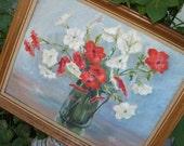 Painting vintage floral shabby chic paris chic boho hippie