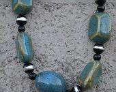 Necklace Vintage southwest bohemian blue
