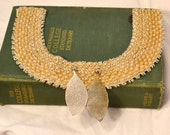Victorian Updated Vintage Beaded Necklace and Earrings Boho