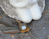 Opal Stunning Large Glass Ring Boho Festival Paris Chic