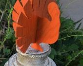 Orange Vintage Painted Turkey