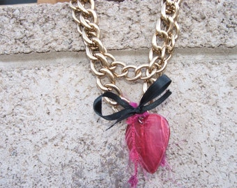 Pink Necklace Boho Coachella Gypsters Paris Chic
