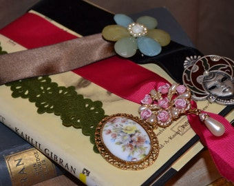 Bookmark Broach Vintage Festival Gift For Her