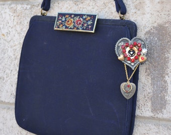 French Vintage Purse and Pin