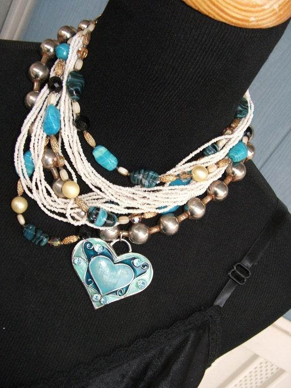 MidCentury Upcycled Necklace