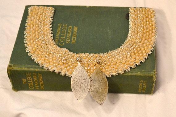 Bohemian Vintage Beaded Necklace and Earrings Boho Chocker Fall