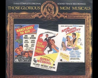 MGM 1950s Musicals Soundtrack Recordings Vintage LP Royal Wedding, Nancy Goes to Rio, Rich Young and Pretty, Jane Powell,  2 Record Set