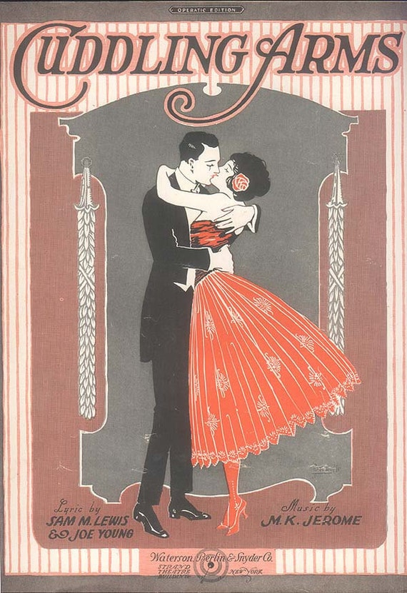 Vintage Sheet Music from 1920 Cuddling Arms by M. K. Jerome, Sam M. Lewis and Joe Young
