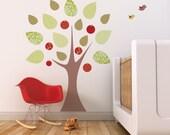 Nursery Wall Decal. Apple Tree Children Wall Decal