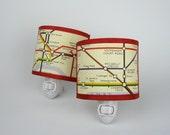 Night light London Underground Map