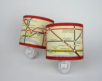 London Underground Map night light